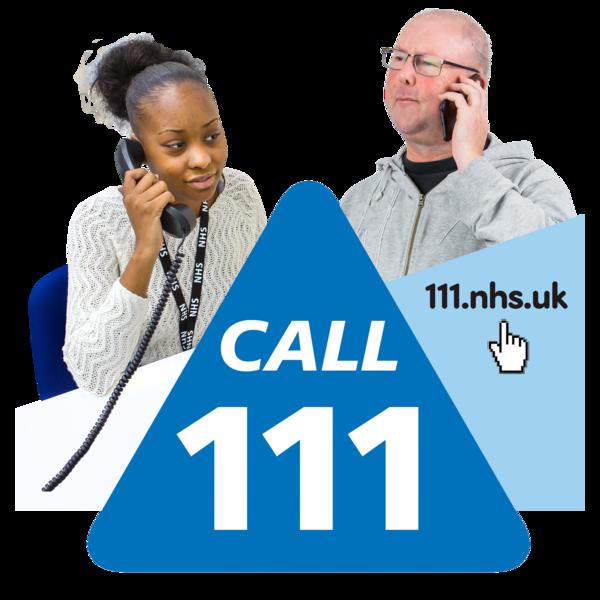 A NHS 'Call 111' sign
