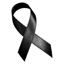 Black ribbon for mourning